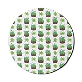 Agave Color Mouse Pad für Computer, aufeinanderfolgende Aloe Vera aussehende Pflanzen in Töpfen...
