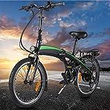 CM67 Klappbar Fahrrad 20 Zoll Ebike Damen Folding Frame Aus Alu Leicht E Bike 7 Gang Damen Mit...