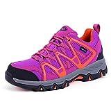 TFO Damen Trekking & Wanderschuhe Atmungsaktive Walkingschuhe Sport Outdoor Schuhe mit Gedämpfter...