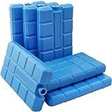 com-four 6X Kühlakku in blau - Kühlelemente für Kühlbox und Kühltasche - Kühlakkus für...