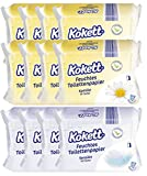 840 Blatt feuchtes Toilettenpapier Kokett - (12 x 70 Blatt) - Sensitiv und Kamille