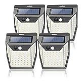 99 LEDs Solarlampen für Außen mit Bewegungsmelder aussen[4 Stück/2000mAh]Solarleuchten für...