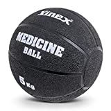 Vinex Robuster Gummimedizinball - 5 kg - schwarz