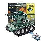 SMUOO DIY 2.4 G R/C Pdagogisch Zusammengestellt Panzer Spielzeug,1:35 Fernbedienung Tanks...