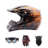 Motorradhelm, Jugend Kinder Dirt Bike Helme, Motocross Racing Bike Helm Vier Jahreszeiten universal...