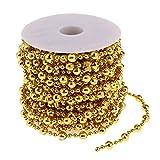 Baoblaze 15m Hochzeit Dekorationen Perlen Kugelketten 8mm DIY Handgefertigte Anhänger Dekore