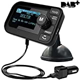 FirstE Auto DAB+ Radio Adapter, 2,3' LCD Tragbares Autoradio DAB mit FM Transmitter+ Bluetooth...