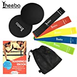 heeba Resistance Hip Bands Multiband Fitness Widerstandsbnder 5er Premium Set mit Core Sliders...