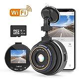 THIEYE WiFi Dashcam 1080P Full HD AutoKamera Video Recorde mit 32G SD Kart für Fahrzeuge mit 170 °...