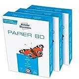 Avery Zweckform 2574 Druckerpapier, Kopierpapier (1.500 Blatt, 80 g/m², DIN A4 Papier, hochweiß,...