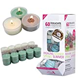 Smart-Planet® Kerzen Ambiente - 60 Stück Duft Teelichter Teelicht Set im Spender Fresh Cotton -...