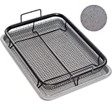 Home Icon Kupfer Granit Crisper Grillkorb Antihaftungs Backtablett mit Crisping Basket Zweiteiliges...