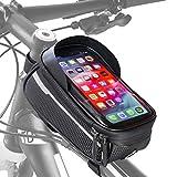 Velmia Fahrrad Rahmentasche [Wasserdicht] - Fahrrad Handyhalterung ideal frs Navi - Fahrradtasche...