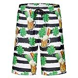 Ainiteey drucken im Vintage-Stil Herren Badehose Workout Shorts Badeanzug oder Sportshorts Schnell...