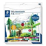 STAEDTLER 146 C72 Buntstifte (klassisches Sechskantformat, weiche Mine, hoch pigmentierte Farben)...