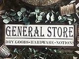 Em2342oe General Store Holzschild, Bauernhaus Dekor