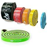 ZenBands Power Resistance Bands, Einzel-Fitnessband in 6 versch. Stärken, Einzelwiderstandsband...