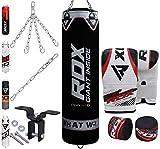 RDX Boxsack Set Gefllt Kickboxen MMA Muay Thai Boxen mit Deckenhalterung Stahlkette Training...