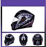 TIANDU Motorrad-Sturzhelm Ltzchen Electric Car Vollvisierhelm Mnner und Frauen Modelle Helm DOT...