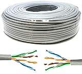 Mr. Tronic 50m Ethernet Netzwerk Netzwerkkabel | Installationskabel | CAT5E, AWG24, CCA, UTP, RJ45 |...