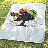 Waniyin Outdoor-Picknick-Matte Strandmatte Wasserdicht Und Feuchtigkeitsfest Bedrucken Einseitig...