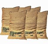 Jutesack Gross für Pflanzen Kaffee-Recycling - Packung mit 6 Einheiten von 70X100 60K xxl –...