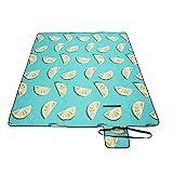 SONGMICS Picknickdecke, 200 x 150 cm große Stranddecke, Campingdecke, wasserdichte Unterseite,...