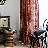 YUNSW Lace Baumwolle Leinen Vorhänge Boho ethnischen Stil Schlafzimmer Wohnzimmer Küchen Vorhang 1...