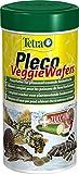 Tetra Pleco Veggie Wafers, Hauptfutter für pflanzenfressende Bodenfische, Alleinfutter mit...