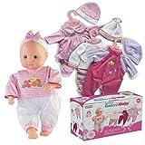 Prextex 12-Stück-Baby-Puppe mit Kleidung Set - Baby Dalia 14-Zoll-Mädchen Puppe mit 4 Nizza Outfit...