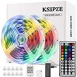 Ksipze LED Strip 10m RGB LED Lichterkette Streifen Lichtband mit Fernbedienung,Farbwechsel Hell 5050...
