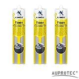 Auprotec® Normfest 1K Karosserie Dichtmasse spritzbar Nahtabdichtung Flexon Ultra schwarz (3...