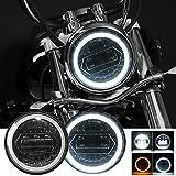 Kairiyard Runde Motorradscheinwerfer 5,75 ' LED Scheinwerfer CREE Chip 60W 20000LM 6000K/3000K...
