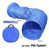OHANA 5m Hundetunnel Hunde Spieltunnel, Agility Set Hunde Agility-Ausrüstung für Hunde mit 12er...