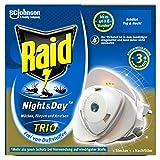 Raid Night & Day Trio Insekten Stecker, Schutz vor fliegenden & kriechenden Insekten, Stecker & 1...