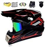 NJYBF Motocross Helme Downhill Helme Motorrad Crosshelme, Fullface Helm Endurohelme Kinder Motocross...