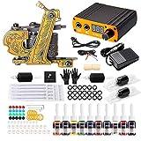 Solong Tattoo® Tattoo Maschinen Set 1 Pro Machine 10 Tinten Energieversorgung EU-Stecker Fußpedal...