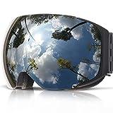 Embryant Magnetische Skibrille mit Quick-Change Objektiv und Case Set UV400 Schutz Anti-Fog...