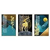 BESTSOON Dekorative Malerei Hotel Wand-Dekor Dekorative Gemälde for Schlafzimmer Und Wohnzimmer...