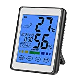 CHOELF Thermometer Hygrometer Digitales Innen Aussen mit Uhr, Zimmerthermometer Digital...