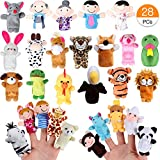 Joinfun 28 Stück Fingerpuppen Party Mitgebsel Cartoon Tier Hand Spielzeug Menschen...