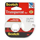 Scotch Transparent Tape With Dispenser, 1/2 Inch X 1000 Inches (174) (Pack of 12)
