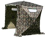 UHATEX Angelzelt 2 Mann, Karpfenzelt, Wetterschutzzelt ohne Boden, Camouflage, in 30 Sekunden allein...