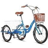 ZNND Tricycle for Adults Dreirad Für Erwachsene, Erwachsenendreirad Lastenfahrrad Cruise Bike Mini...