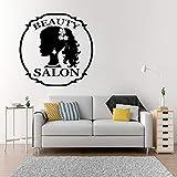 yaonuli Schönheitssalon wandaufkleber schönes mädchen Lange friseursalon Shop Logo Fenster...