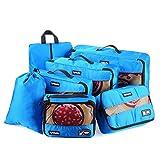 Tyhbelle Kleidertasche Packing Cubes Packwürfel 7-teiliges Set Ultra-leichte Gepäckverstauer Ideal...