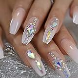 HUIL Künstliche Nägel Fingernägel Falsche Nägel Künstliche Nagelspitzen 24-teilige...