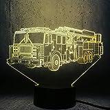 wangZJ Feuerwehrauto Form 3D -LED -Lampe Kinder Spielzeug -NachtlichtTeenager...
