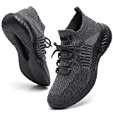 FOVSMO Herren Laufschuhe Sport Gym Schuh Cross-Training Slip-on Mode Sneakers für Walking, Grau...