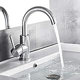 Auralum chrom Wasserhahn 360° Drehbar Bad armatur Waschbecken Mischbatterie Waschtischarmatur...